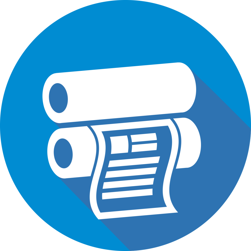 Icon for wide format printing description